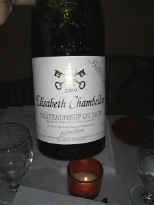 elisabeth chambellan chateauneuf du pape 2009
