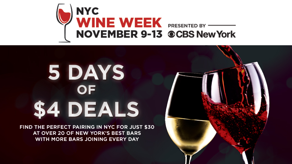 NYC Wine Week Tickets and Drink specials