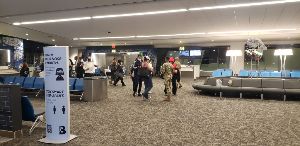 National Guard COVID Checkpoint in LaGuardia Airport